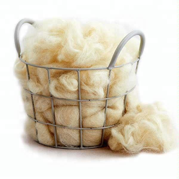 Raw Washed Carded Sheep Wool Tops Wool Fiber for Spinning