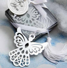 Angel Cross Design metal bookmarks White Silk Tassel wedding favor baby shower gift birthday party favors