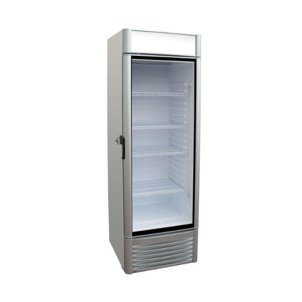 Beverage Upright Glass Door Freezer with Frosted Glass Door