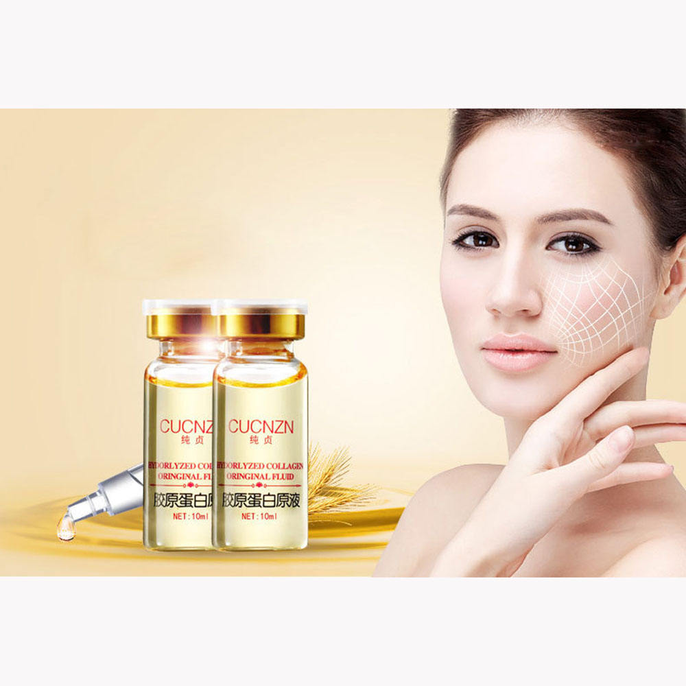 Collagen liquid moisturizing facial essence anti aging wrinkle hyaluronic acid VC cream brighten and nourish face skin