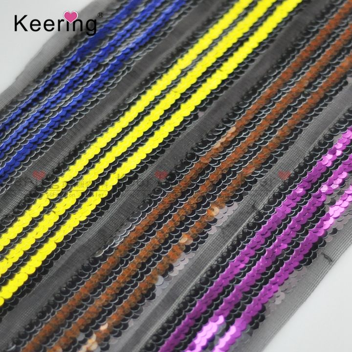 Keering New Style embroidered sequin mesh ribbon WTPH-003