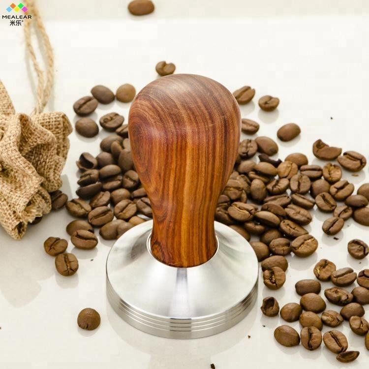 Mealear деревянной ручкой Кофе эспрессо вскрытия 49 мм 51 мм 57,5 м