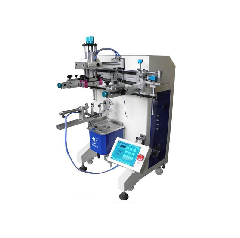automatic cylindrical screen printing machine for bottle, bucket