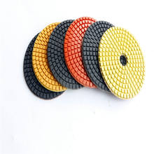 4 inch/100mm wet dry diamond polishing pad for polishing granite marble stone quartz and engineered stone 7pcs/set