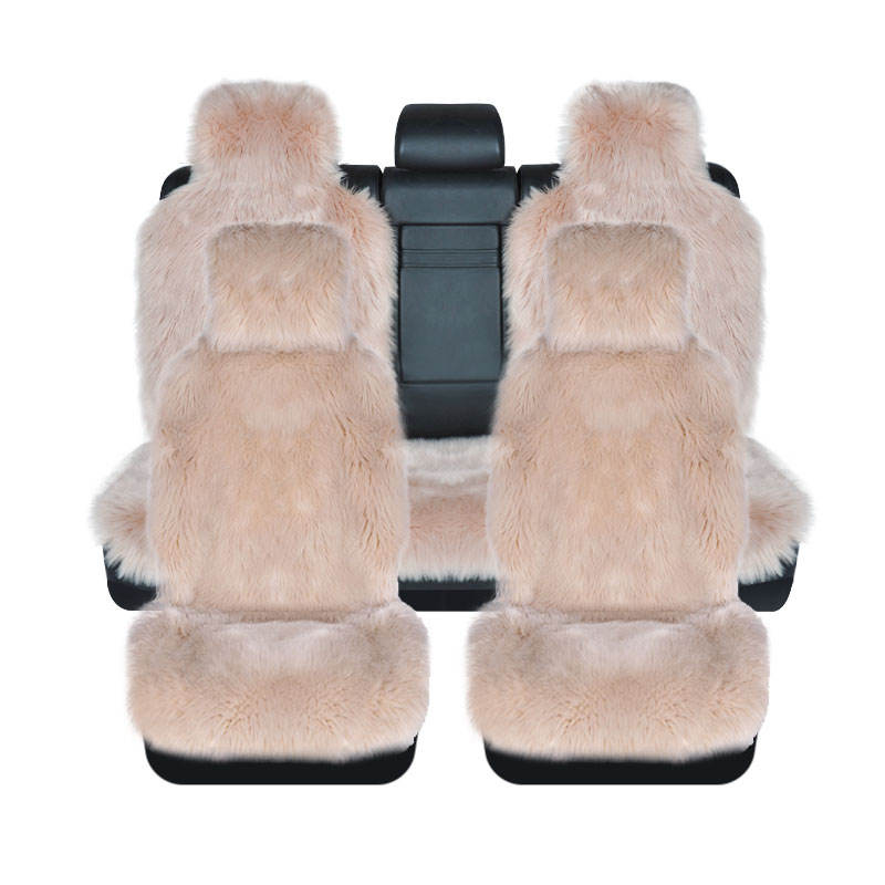 Cheap 100% Pure Long Hair wool Shearing genuine sheepskin lambskin interior accessory Italy design fur car seat covers