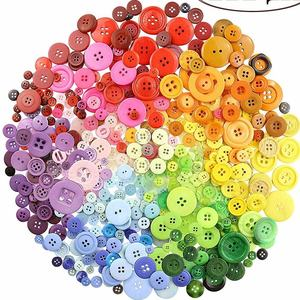 Colourful Beatuiful 20g Assorted Sizes Resin Buttons Round Craft Buttons For DIY Children's Manual Button Painting