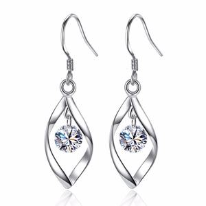 Hot Selling Zircon Earring Sterling silver Plated New Korea Style Ear Hook Fashion Jewelry
