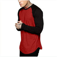 Muscle Fit Men Full Sleeve Odm Premium Red T Shirt