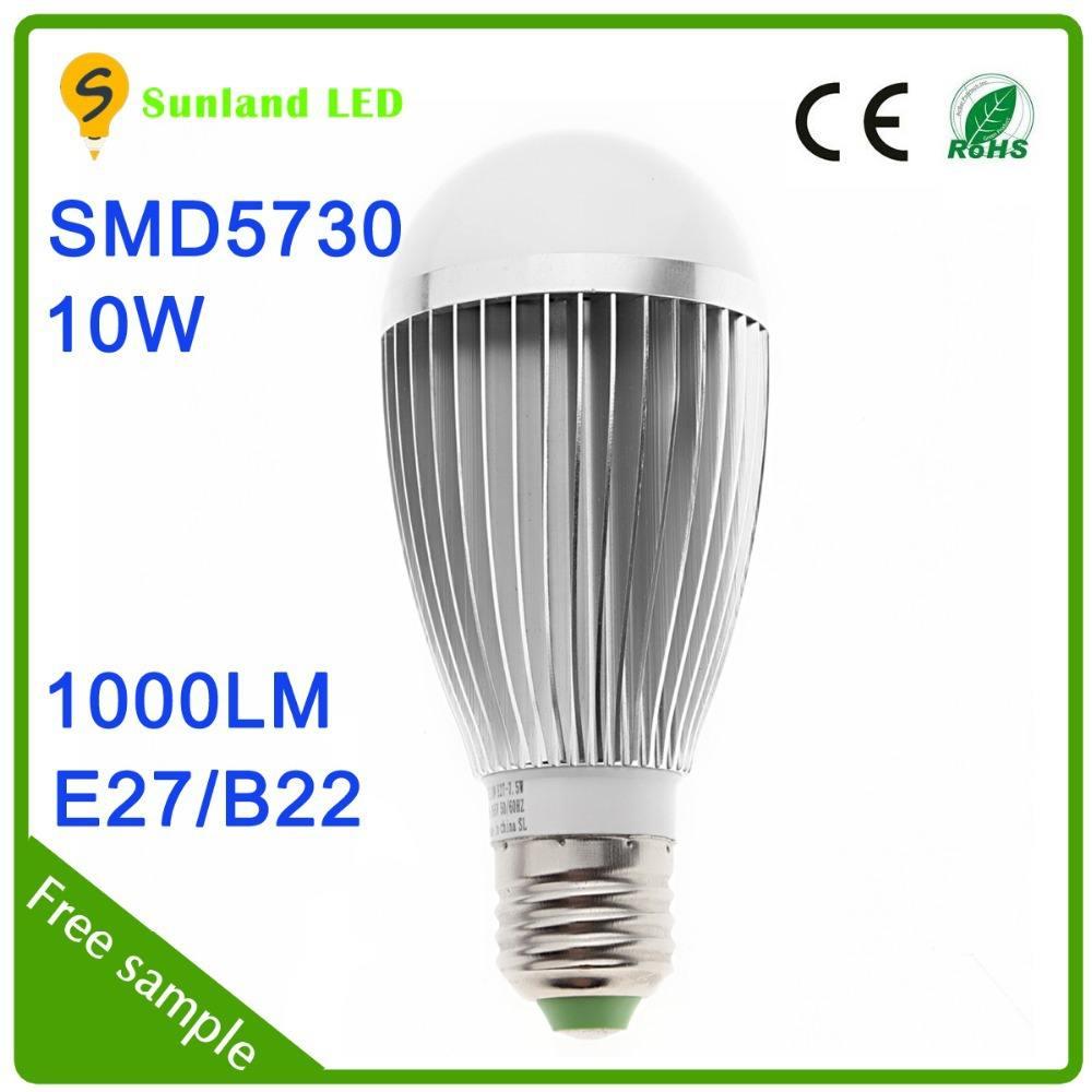 السعر الجديد رخيصة المنتج ce بنفايات ac85~265 smd5730 10w 25w e27 مبة led
