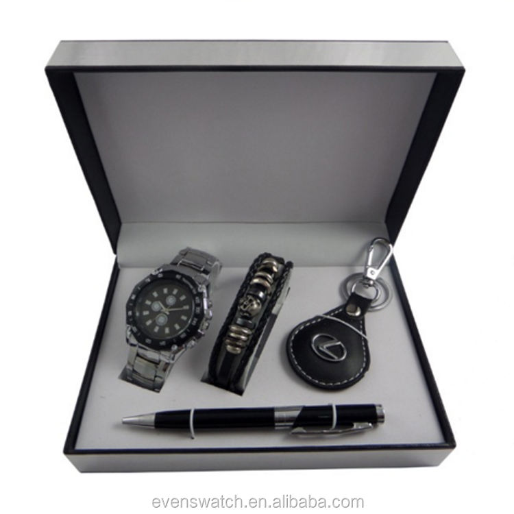 Custom description of wrist watch mens gift set watch hot sale in USA