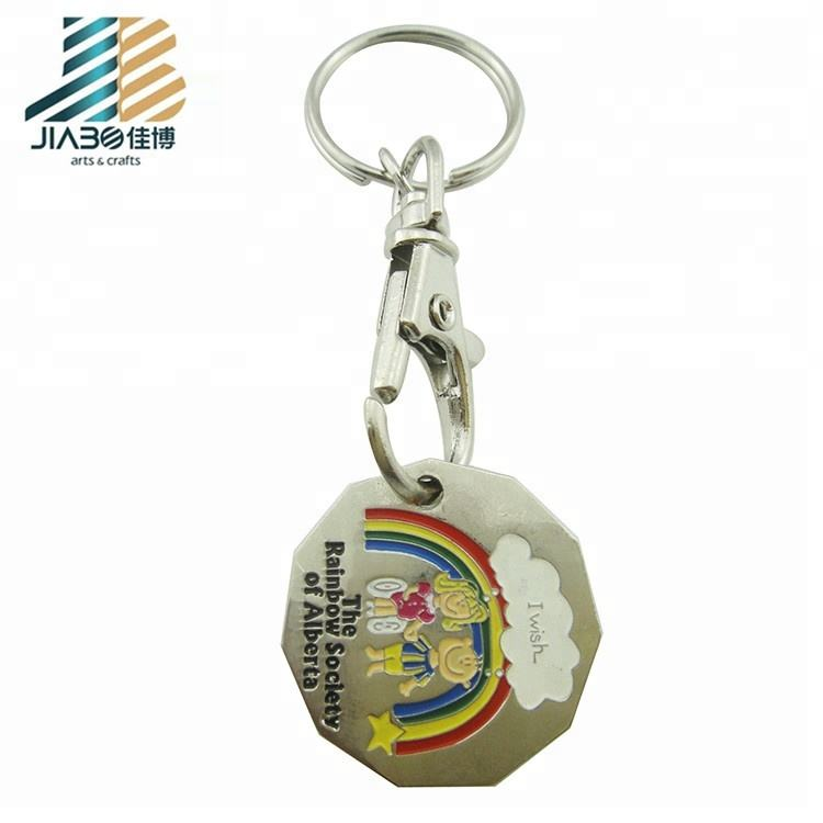 Plastic Shopping Trolley Coin Key Ring Colour Choice New I Love Cape Town