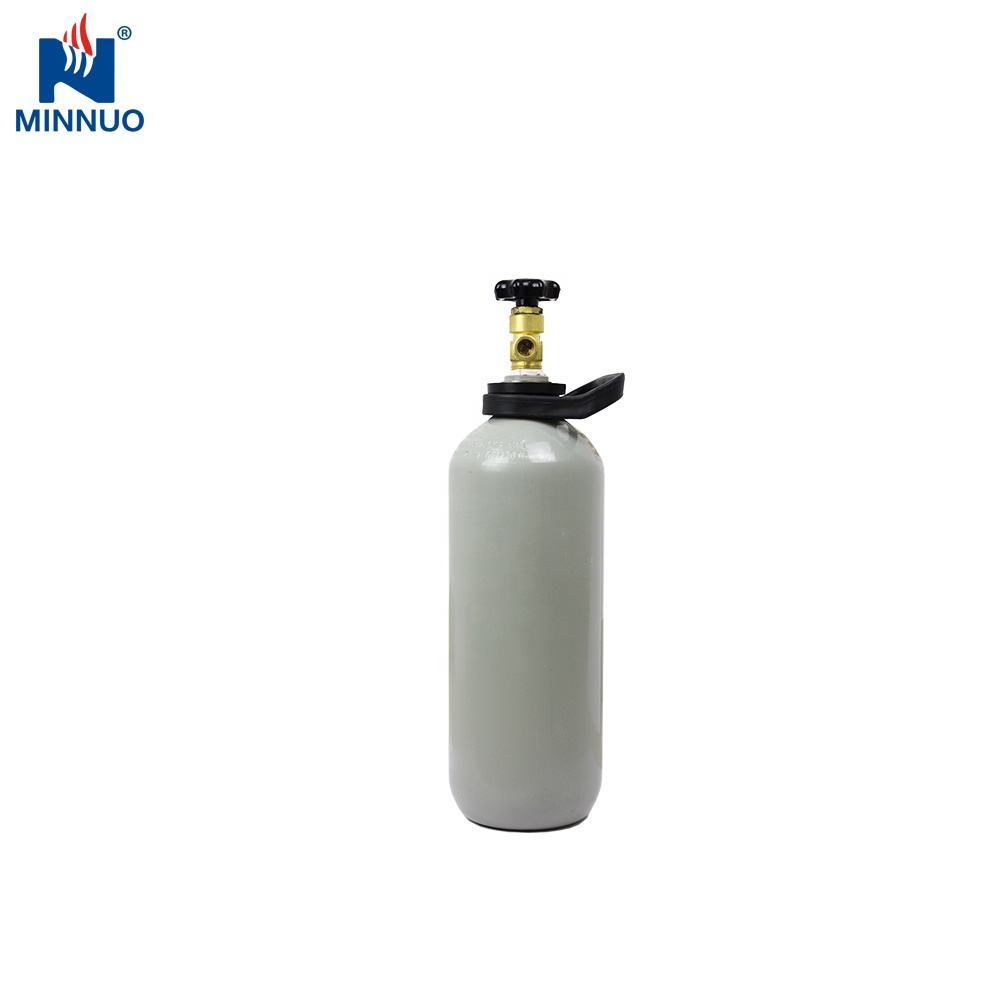 Top quality food grade 2.6kg 4kg 6kg co2 cartridge 4l beer gas cylinder with protective valve and cap for Australia Germany