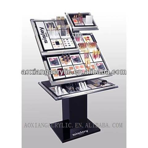 Wholesale Makeup Display Shelf Stand/cosmetic display stand for shop