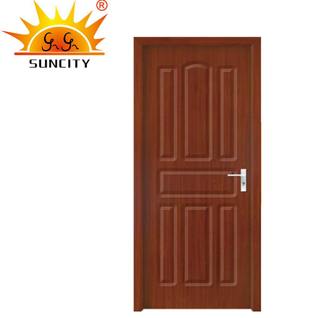 modern building material doors design house hotel bedroom prehung pvc wooden swing door