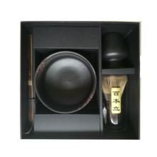 Christmas Promotional Giftbox Matcha Tea Set with Black Matte Bowl, Chasen, Spoon and Holder for Customized Printing Logo