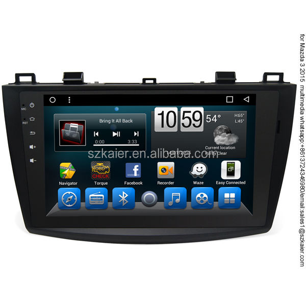 Android 2 din di Navigazione GPS Video player per Mazda 3 2013 2015 Multimedia Auto radio con Schermo TV camera DVR