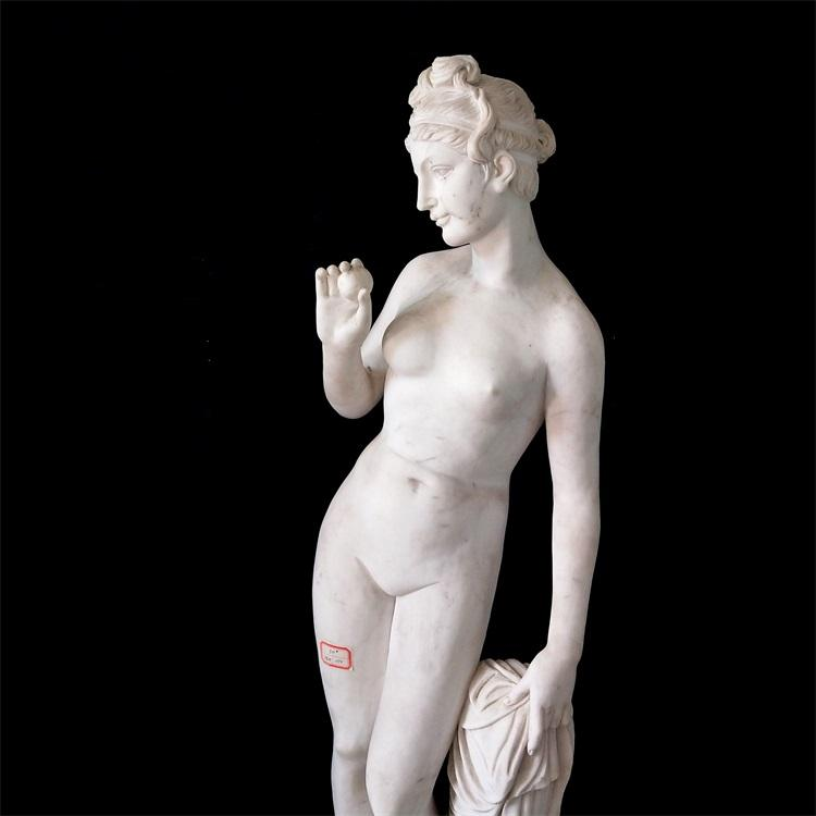 Good quality western style art stone carving lady marble statues sculpture