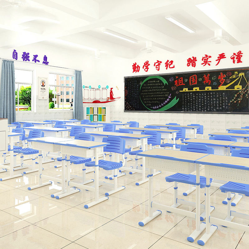 Modern Classroom Reading Table and Chairs Adjustable School Single school furniture desk and chair