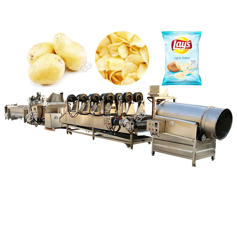Manufacturer Industrial Automatic Potato Crisp Sweet Potato Chips Making Machine