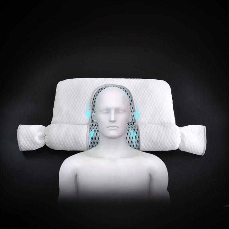 Buckwheat cervical cylindrical pillow with pearl cotton inflatable lumbar pillow