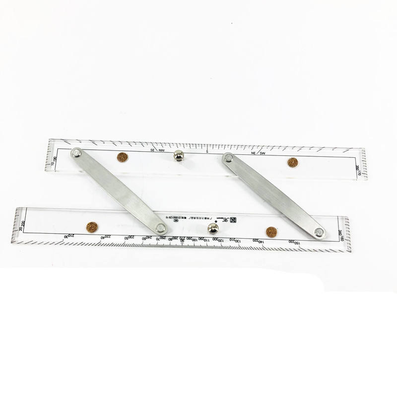 300mm 450mm 600mm Acrylic Nautical Parallel Ruler with Customized Package