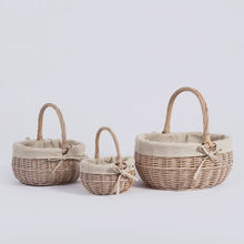 Fancy wedding handles food fruit hamper natural christmas decorations handmade willow rattan wicker empty flower gift basket