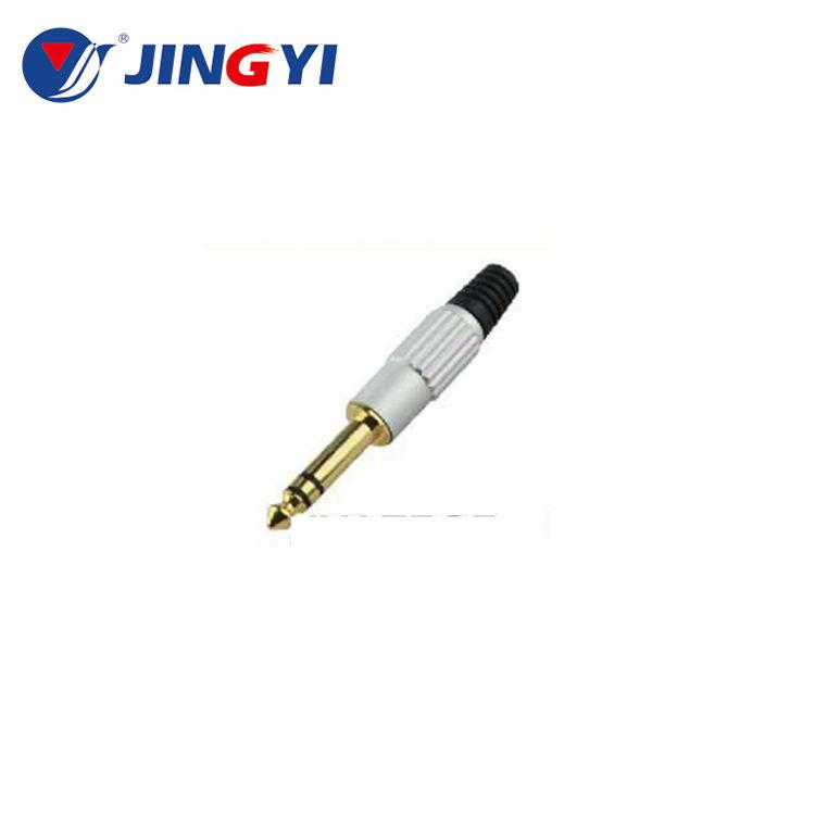 "Özelleştirilmiş Logo altın kaplama 6.3mm <span class=keywords><strong>TRS</strong></span> stereo jak ve konnektörleri <span class=keywords><strong>1</strong></span>/4 ""jack plug kablo"