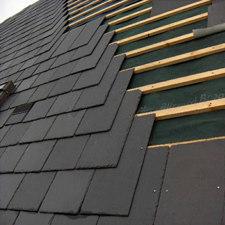Natural black low calcium unfading roofing roof slate tile