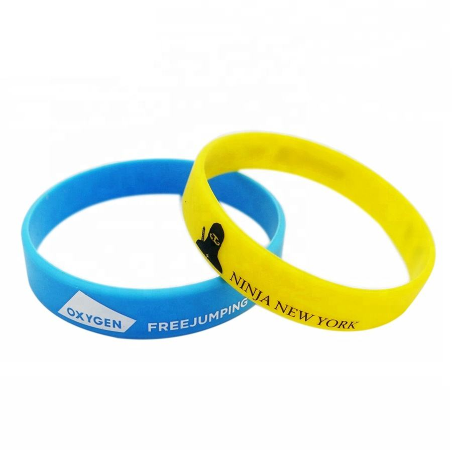pvc bangle with custom logo rubber silicone bracelet celebration gift