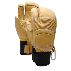 Wholesale Oem  High Quality  mens yellow leather ski gloves  winter thick warm glove