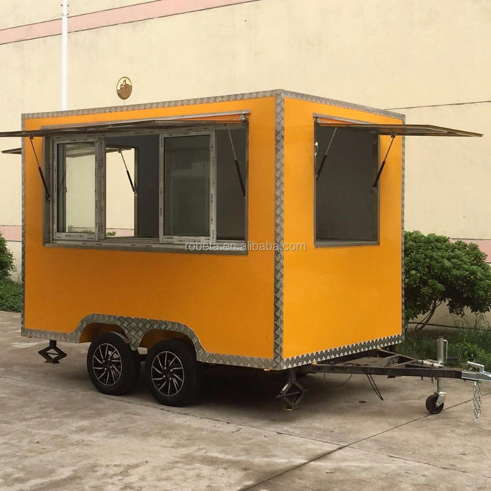 Selling best to abroad food trailer with churro machine and fryer / mobile food truck for fried chicken beer snack