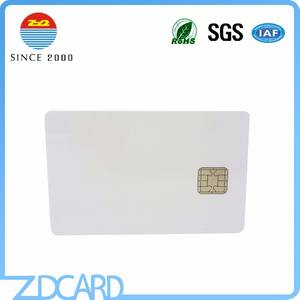 Blank ISO7816 Smart Contact Java Card J2A040/ J3D081/ J3H081/ Chips 40K/ 80K Jocp Card With Magnetic Stripe