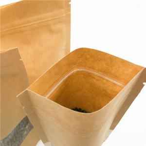 Eco Friendly Stand Up Pouch Zip Lock Dried Biodegradable kraft Food Paper Bag