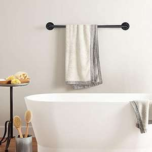 Pipe Black Towel rack Wall Mounted Extra Long Bathroom Hardware Kitchen Cabinet Clothing Rods Towel bar