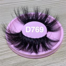 Hot Sell Long Length Lashes 25mm 6d Long Mink Eyelashes