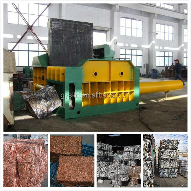 Hydraulic horizontal scrap Metal press baler machine
