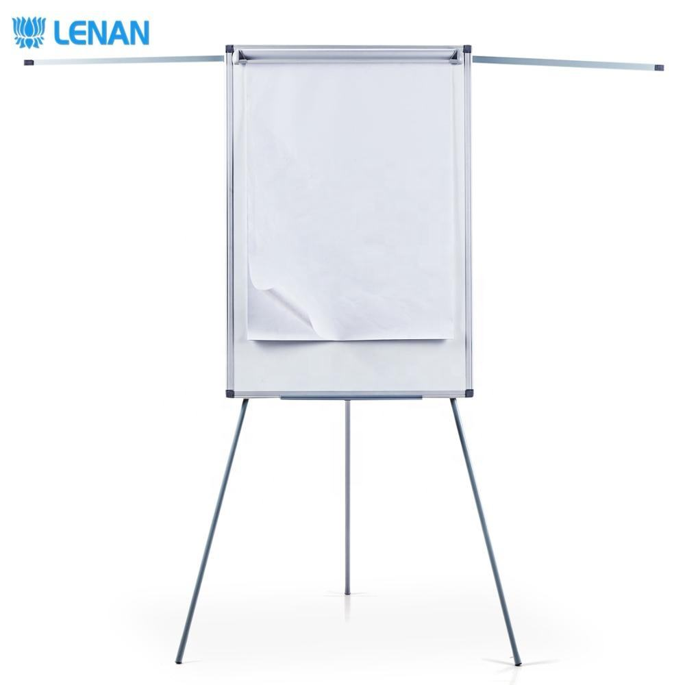 Tripod magnetic white board office meeting foldable movable flip chart stand