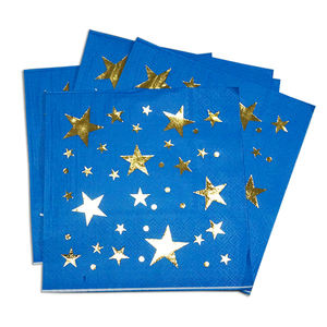 Gold Or Silver Foil Printed Paper Napkins For Special Party