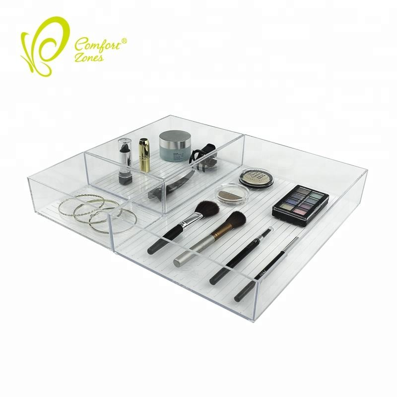 Clear Cosmetic Drawers Plastic Desktop Acrylic Organiser