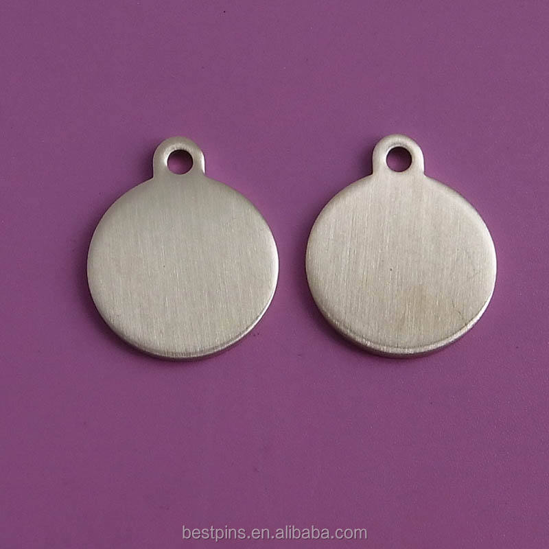 Blank Brass Material Jewelry Ornament Hand Tag with Laser Engraving/Printing Logo