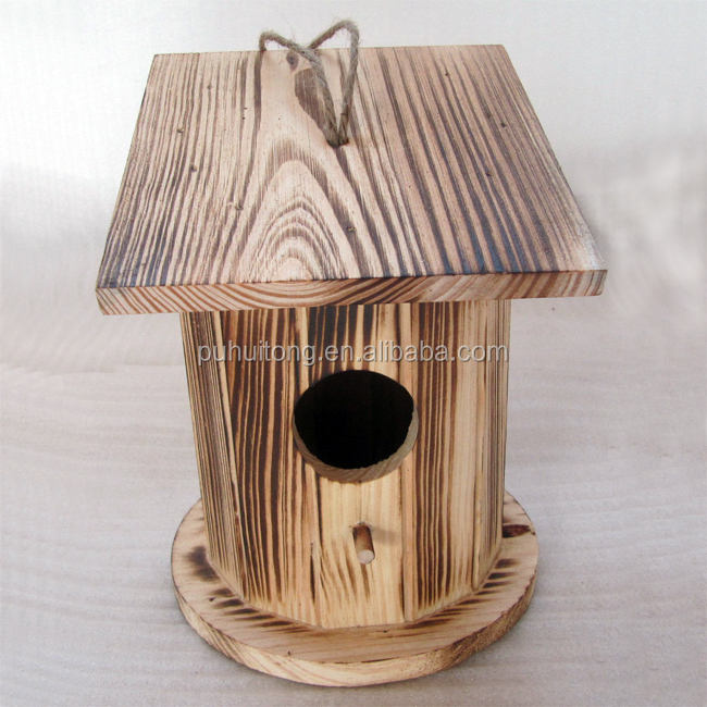 Wooden bird house,bird nest box