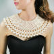 HANSIDON Statement Necklace Choker For Women Imitation Pearl Collars Necklace Handmade Beaded Bib Necklace Wedding Jewelry