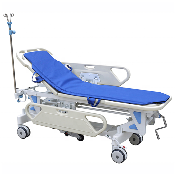 Patient transportation stretcher trolley with height adjustable good price medical equipment