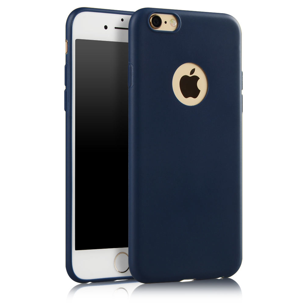 Hot popular pure color impresso Protetor capa de Silicone fino Para Iphone 6/6s
