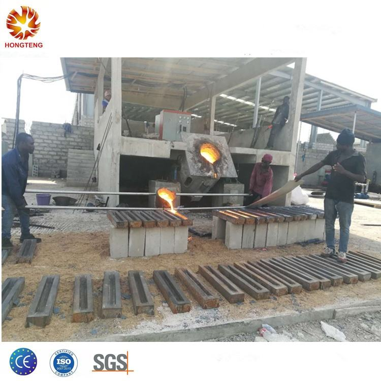 Hongteng factory price high temperature metal crucible iron steel induction melting furnace