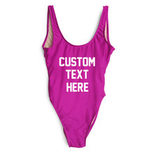 High Quality One Pieces Swimsuit 2019 Custom Text Swimwear Women Bathing Suit Letter Print Beach Sexy Swimsuit