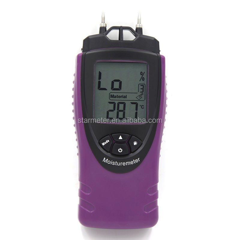 portable Digital wood moisture meter for material moisture and temperature