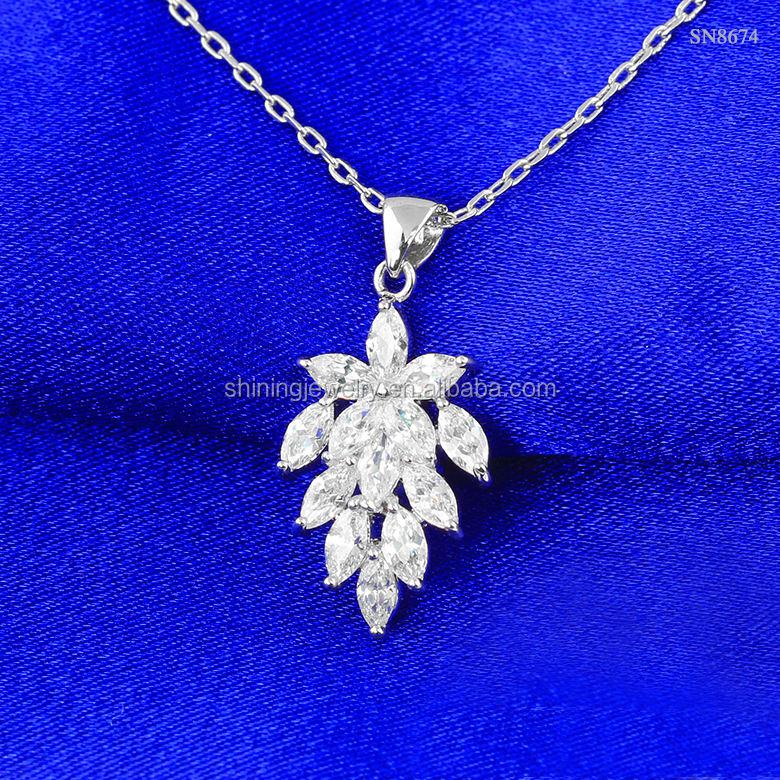 Precious Stars Jewelry Sterling Silver Marquise-Shape Blue Larimar Pendant