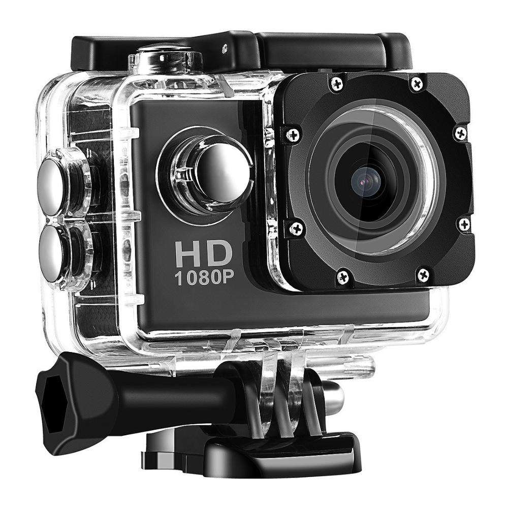 2.0 inch FHD 1080 P Sport Duiken Auto Recorder DVR Cam Helm mobius action camera Inclusief camera accessoires