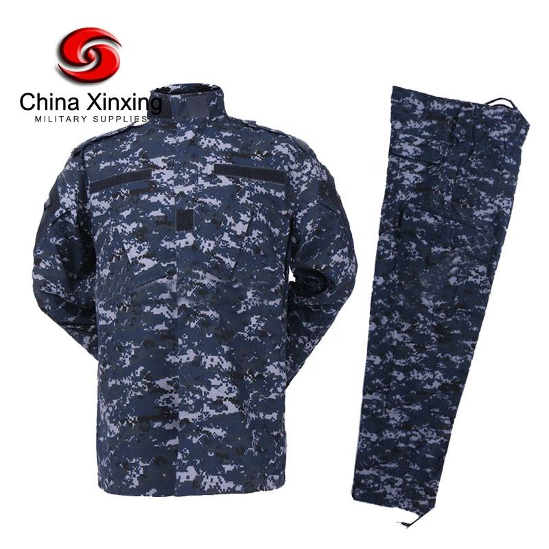 Custom buy ACU US cheap digital navy camouflage fabric Army clothing Combat tactical Military Uniform